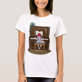 Little Red Haired Girl Practicing Piano T-Shirt