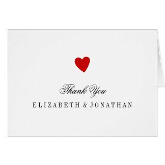 Little Red Heart Wedding Thank You Card