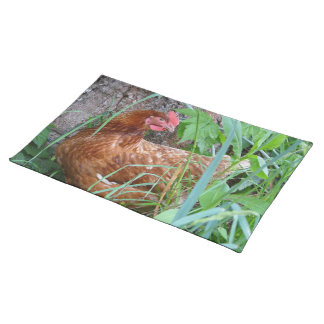 Little Red Hen in the Grass Cloth Placemat