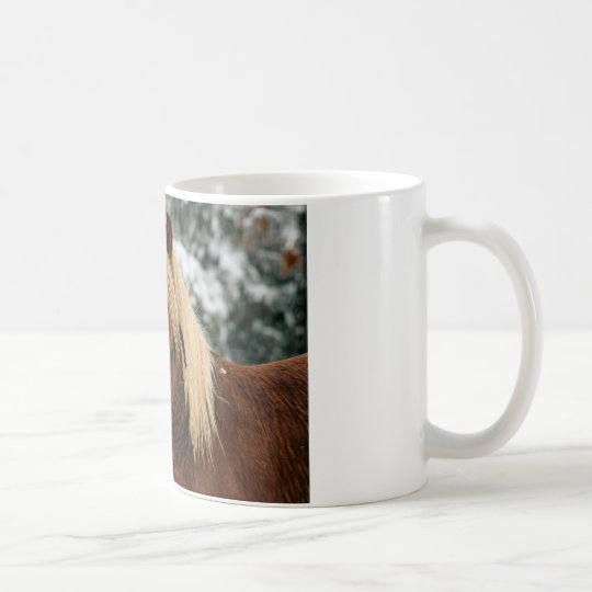 Little Red in the Snow Coffee Mug