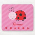 Little Red Ladybug Personalized Mousepad