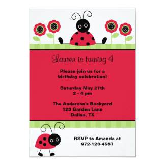 Little Red Ladybugs Card
