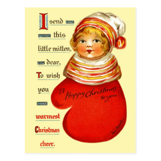 Little Red Mitten Girl Post Cards