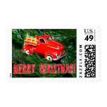 Little Red Pick-up Truck Christmas Ornament (2) Postage