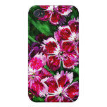 Little Red Pink and White Flowers Cases For iPhone 4