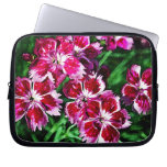 Little Red Pink and White Flowers Laptop Computer Sleeves