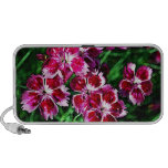 Little Red Pink and White Flowers Laptop Speaker