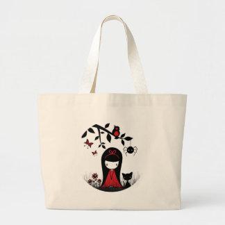 Little Red Ribbon Head Bag
