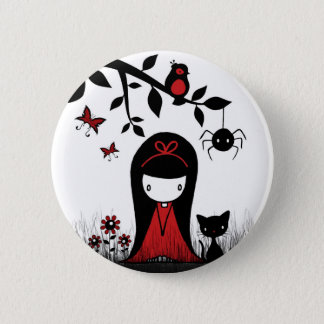 Little Red Ribbon Head Button