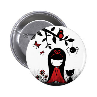 Little Red Ribbon Head 2 Inch Round Button
