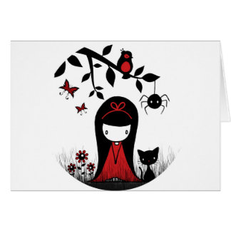 Little Red Ribbon Head Card