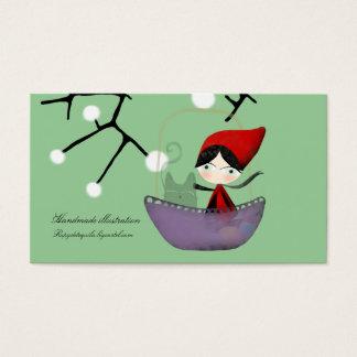 Little Red Ridding Hood snow business card