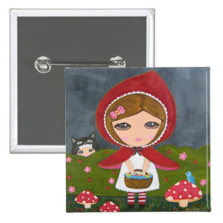 Little Red Riding Hood 2 Inch Square Button