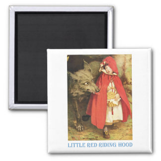 Little Red Riding Hood 2 Inch Square Magnet