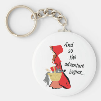 Little Red Riding Hood and Her Wolf Pup Keychain