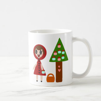 Little Red Riding Hood and the Cupcake Tree Classic White Coffee Mug