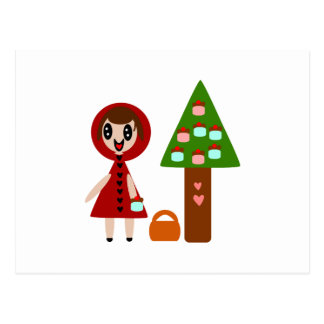 Little Red Riding Hood and the Cupcake Tree Postcard