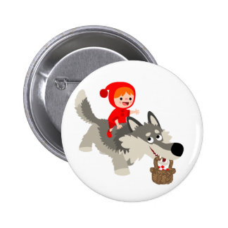 Little Red Riding Hood and The Wolf Button Badge