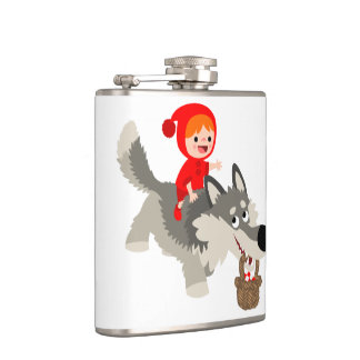 Little Red Riding Hood and The Wolf Hip Flask