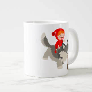 Little Red Riding Hood and The Wolf Jumbo Mug 20 Oz Large Ceramic Coffee Mug
