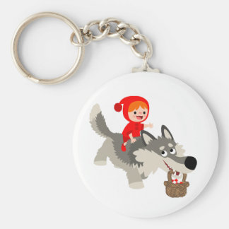 Little Red Riding Hood and The Wolf Keychain