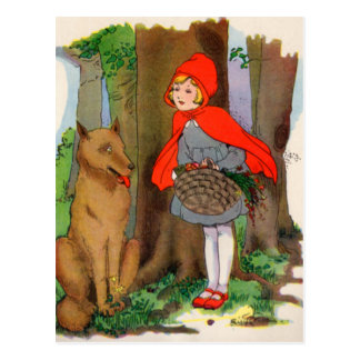 Little Red Riding Hood and the Wolf Postcard