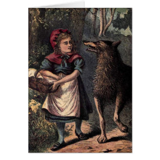 Little Red Riding Hood and Wolf Greeting Cards