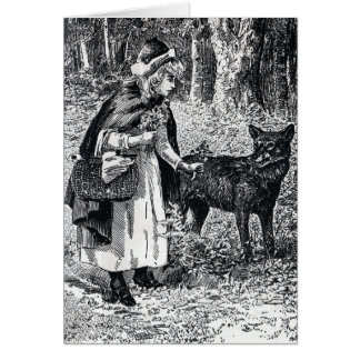 Little Red Riding Hood  and Wolf Notecard Card