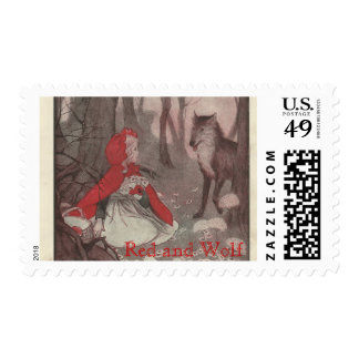 Little Red Riding Hood and Wolf Postage Stamps