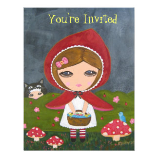 Little Red Riding Hood- Bedtime Story Party Personalized Invitation