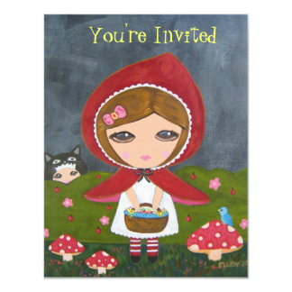 Little Red Riding Hood- Bedtime Story Party 4.25x5.5 Paper Invitation Card