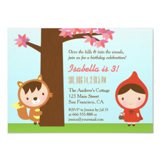 Little Red Riding Hood Big Bad Wolf Birthday Party Card
