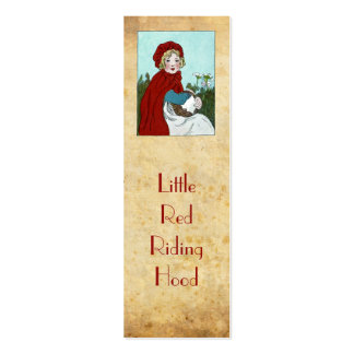 Little Red Riding Hood bookmark Double-Sided Mini Business Cards (Pack Of 20)