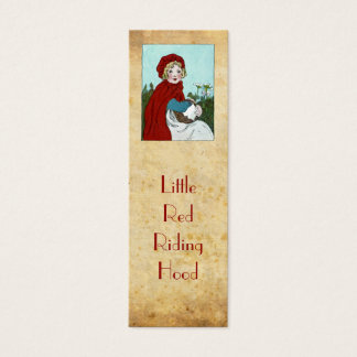 Little Red Riding Hood bookmark Mini Business Card