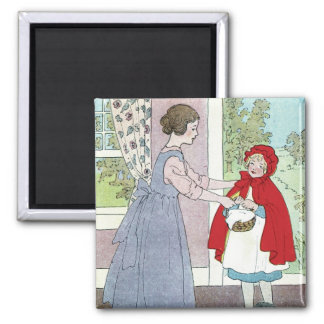 Little Red Riding Hood: Bring This To Grandma 2 Inch Square Magnet