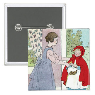 Little Red Riding Hood: Bring This To Grandma Pinback Button