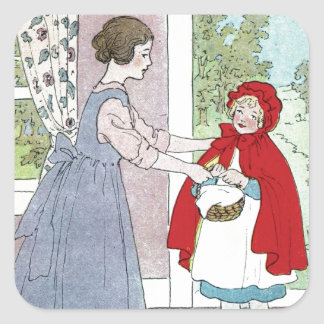 Little Red Riding Hood: Bring This To Grandma Square Sticker