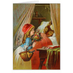Little Red Riding Hood by Carl Offterdinger Greeting Card
