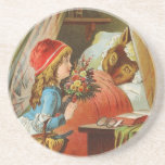 Little Red Riding Hood by Carl Offterdinger Beverage Coaster