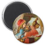 Little Red Riding Hood by Carl Offterdinger Refrigerator Magnet