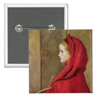 Little Red Riding Hood by John Everett Millais Button