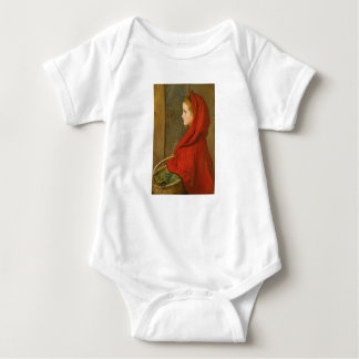 Little Red Riding Hood by Millais Baby Bodysuit