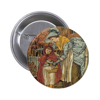 Little Red Riding Hood by Walter Crane 1845 ~ 1915 Pinback Button