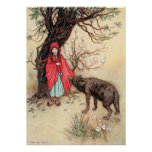 Little Red Riding Hood by Warwick Goble Poster