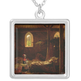 Little Red Riding Hood, c.1820 Square Pendant Necklace
