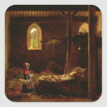 Little Red Riding Hood, c.1820 Square Stickers