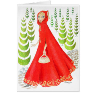Little Red Riding Hood Card/Invitation Orig. Art Card