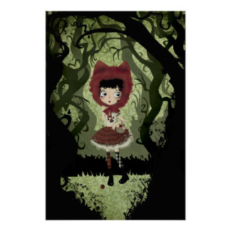 Little Red Riding Hood Card Poster