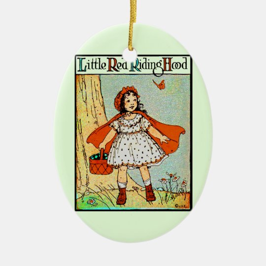 Little Red Riding Hood Ceramic Ornament