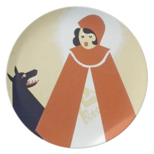 Little Red Riding Hood Dinner Plates